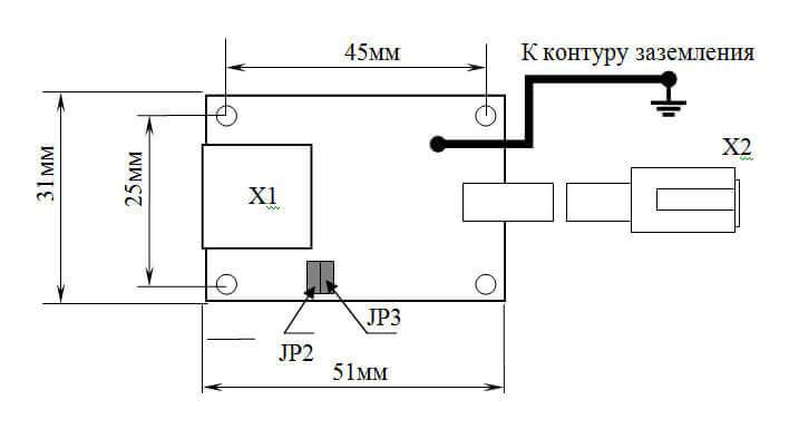 Схема грозозащиты под RJ-45