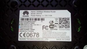информация Huawei WS319