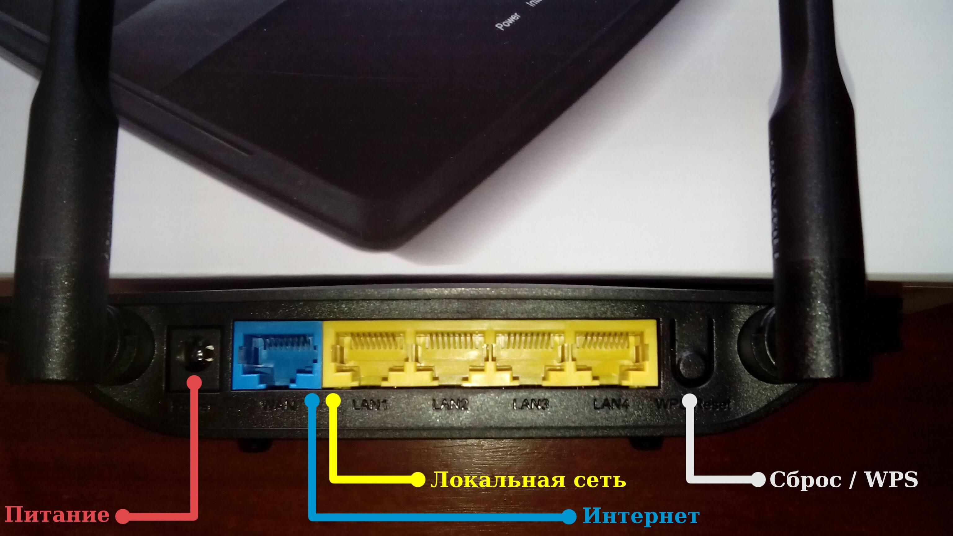 Задняя часть роутера Huawei WS319